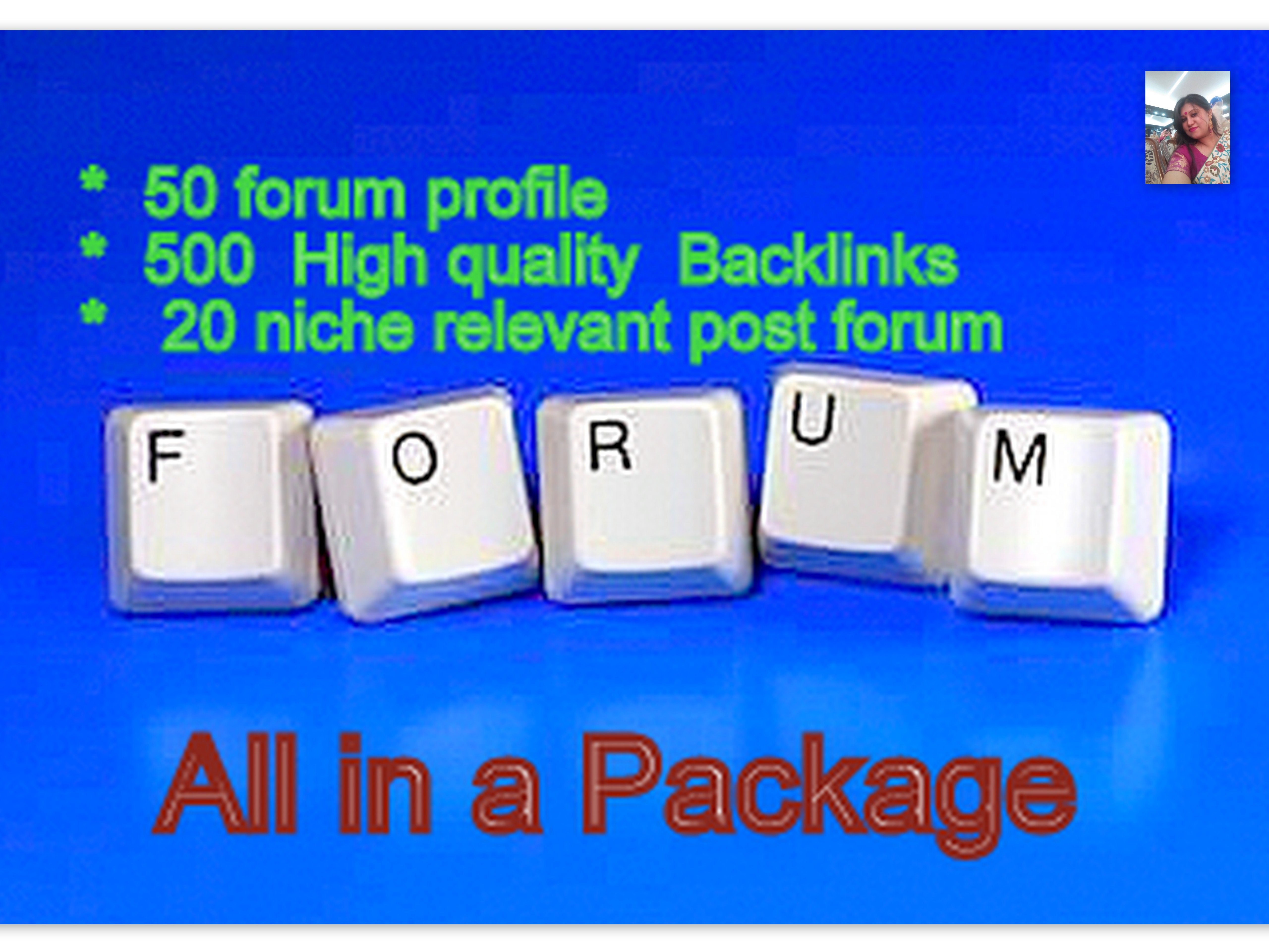 Rank up Your Website on Google By High Quality Back links 50 profile + 500 post+ 20 niche post