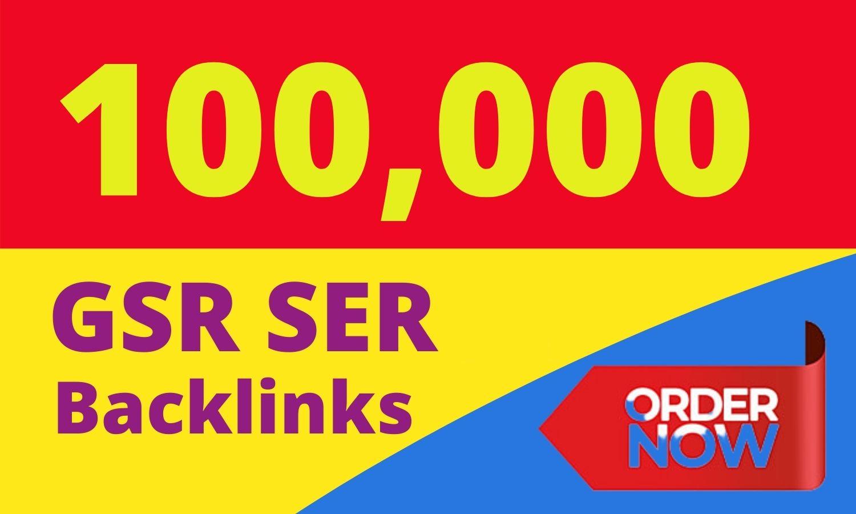 100,000 GSA SER SEO Website Ranking Backlinks fast service