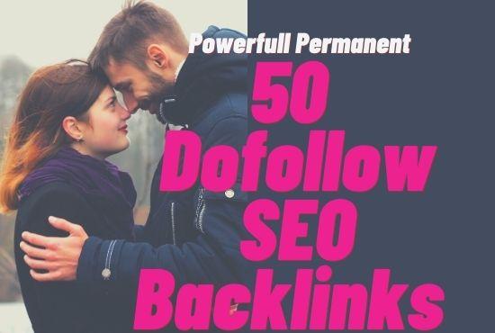 Create manually 50 Dofollow and SEO Edu Backlinks