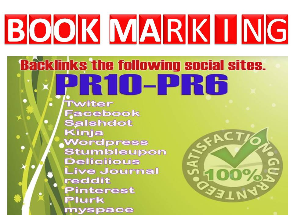 40 Percent off 25+ High PR6 to PR10 Bookmarking links with fast delivery