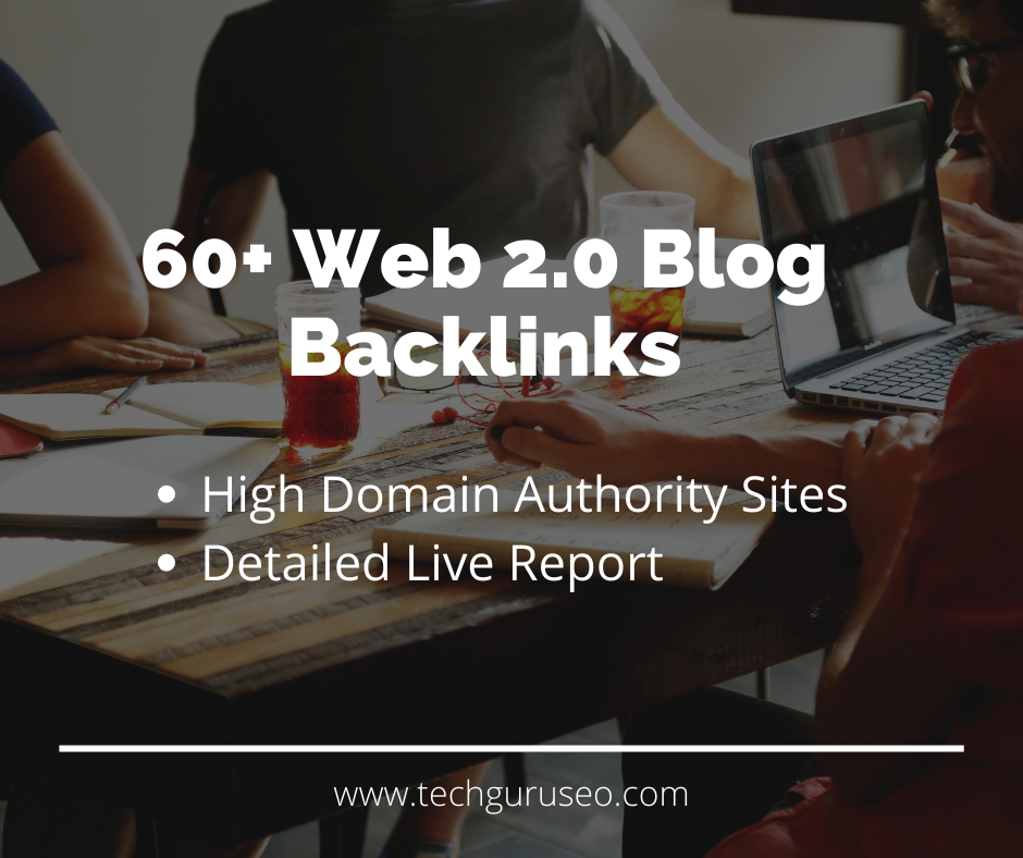 60+ Web 2.0 Blog submissions at High Domain Authority Sites