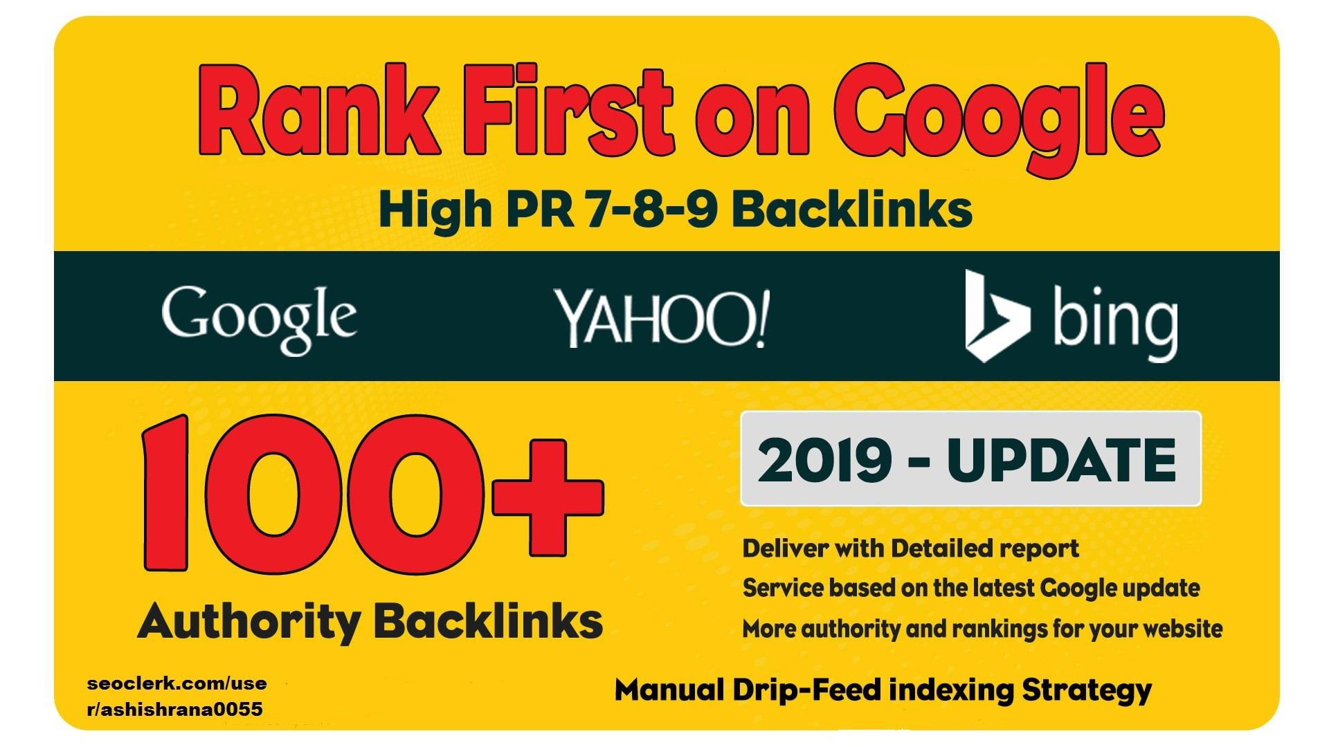 100 Manual Dofollow High Pr Backlinks With High Da Links