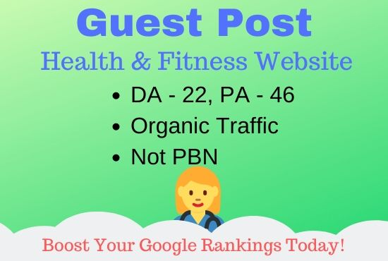 Guest Post On My Health & Fitness Blog DA22,  PA46
