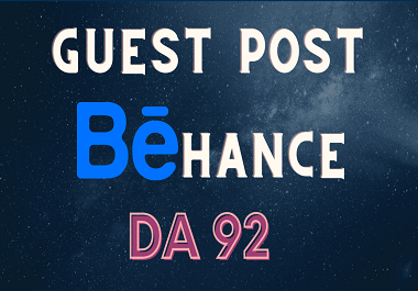 Write and Publish High Quality Guest Post On Behance DA 92 High Authority Website