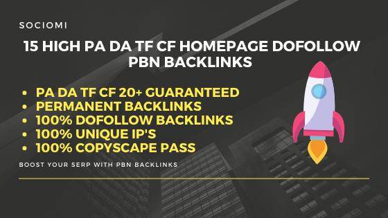 15+ Manual High PA/DA TF/CF Homepage Dofollow PBN Backlinks