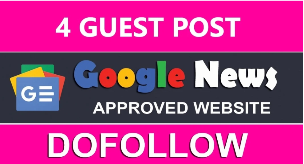 I will write 4 articles and publishing 4 Google news approvad website DA 25 TO 50+