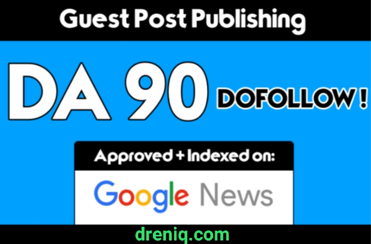 Publish Article in my da 90 google news blog with dofollow backlink