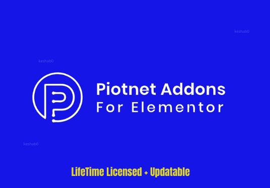 Install lifetime updatable Piotnet addon for elementor Plugin
