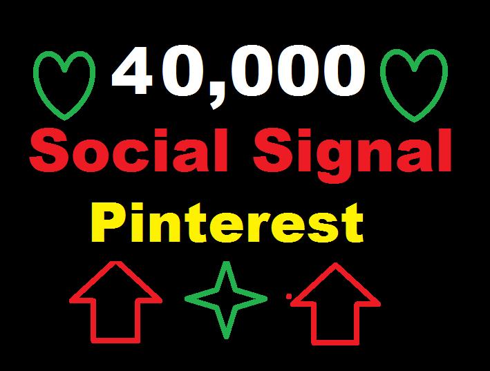 provide 40,000 Pinterest Social Signal Media Manually Share Marketing Seo Ranking Firs