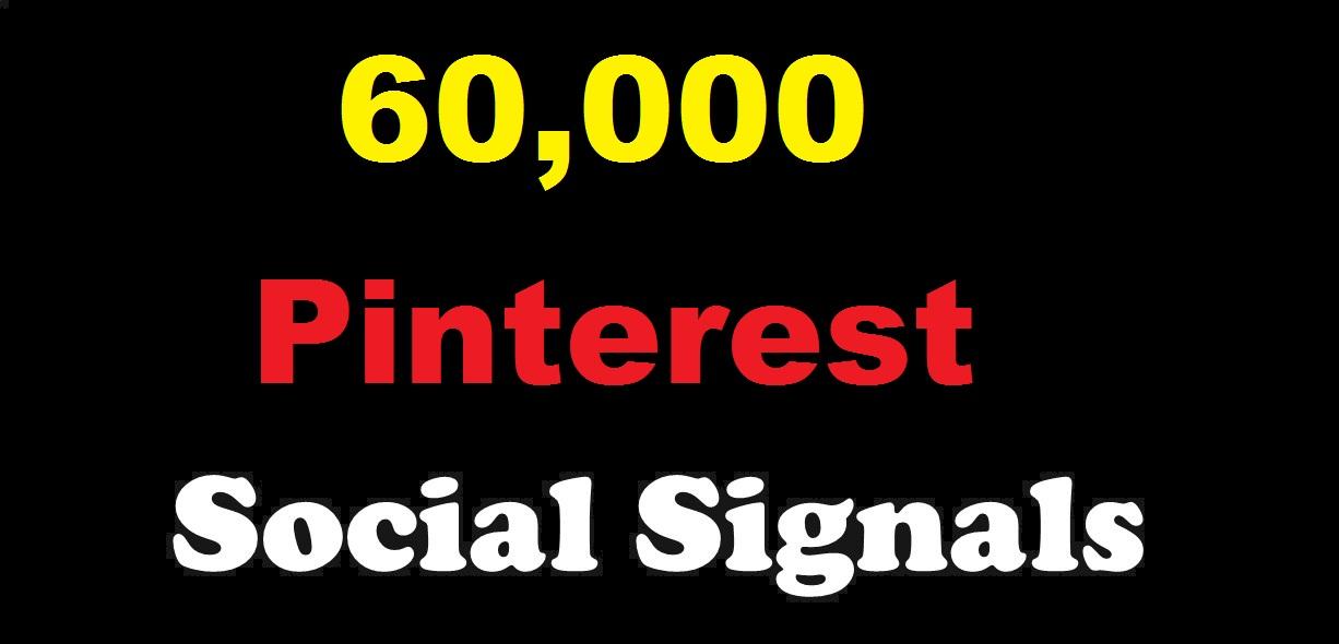 provide 60,000 Pinterest Social Signal Media Manually Share Marketing Seo Ranking Firs