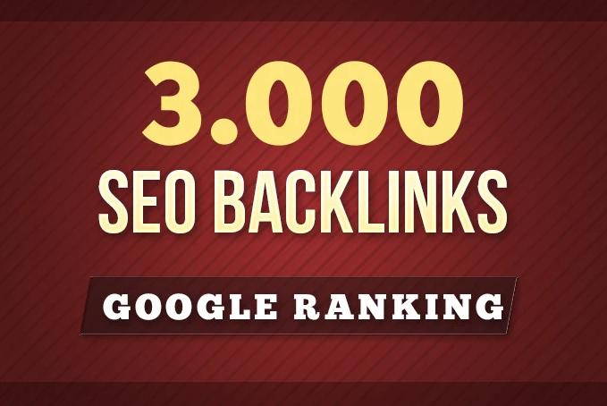Custom Order 3000 SEO Backlinks For Google Ranking
