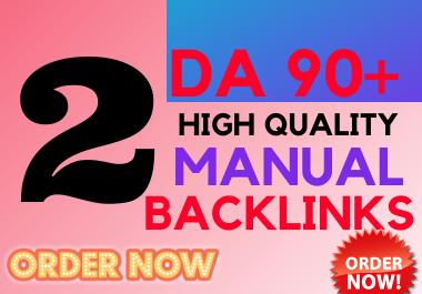 2 DA 90+ high Authority Manual SEO BACKLINKS Boost Your Ranking