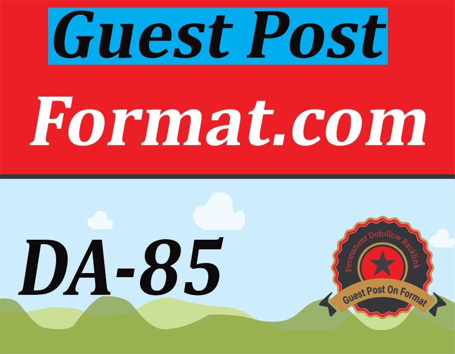 Publish A Guest Post On Format. com DA85