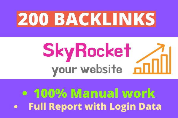 TOP RANKING SEO SERVICE- SkyRocket with 200 High Authority Backlinks Manually