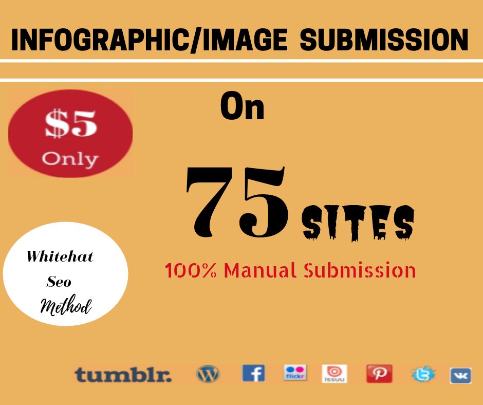 Image Submission or Photos Marketing Manually on 75 High DA Popular Sites