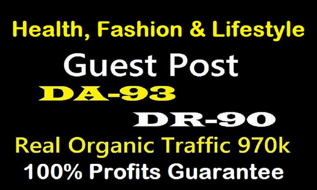 High Quality Health,  Fashion & Lifestyle Guest Post Backlinks
