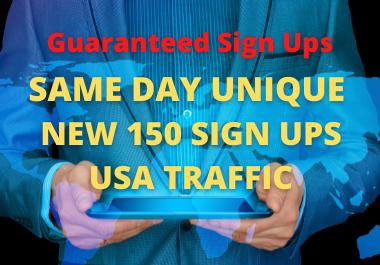 150 Guaranteed Signups with USA Traffic