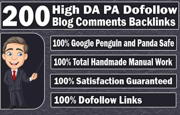 I will 200 blog comments backlinks SEO service