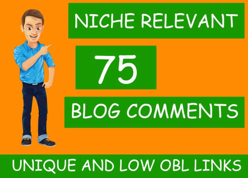 I will make 75 high quality niche relevant blog comments back-links