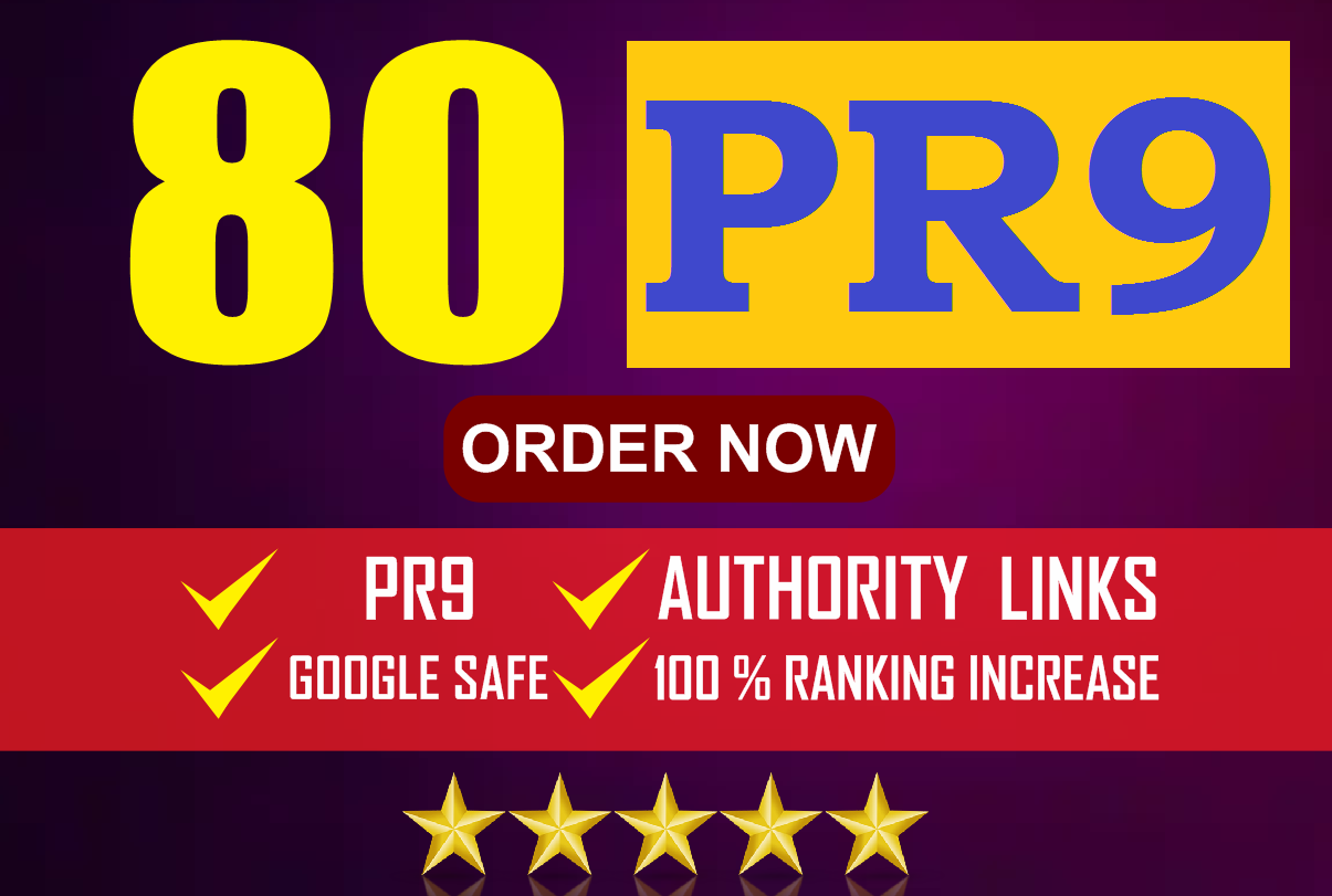 Manual 80 Backlinks From PR9/Forum/Social Media/Web2/Article Submission Links for Boost web Ranking