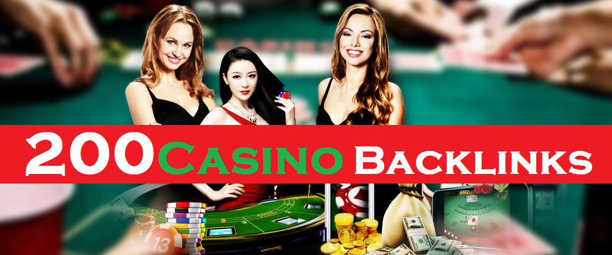 UNIQUE 200+ CASINO, POKER, GAMBLING,  RELATED top class SEO backlinks package For boost google rank