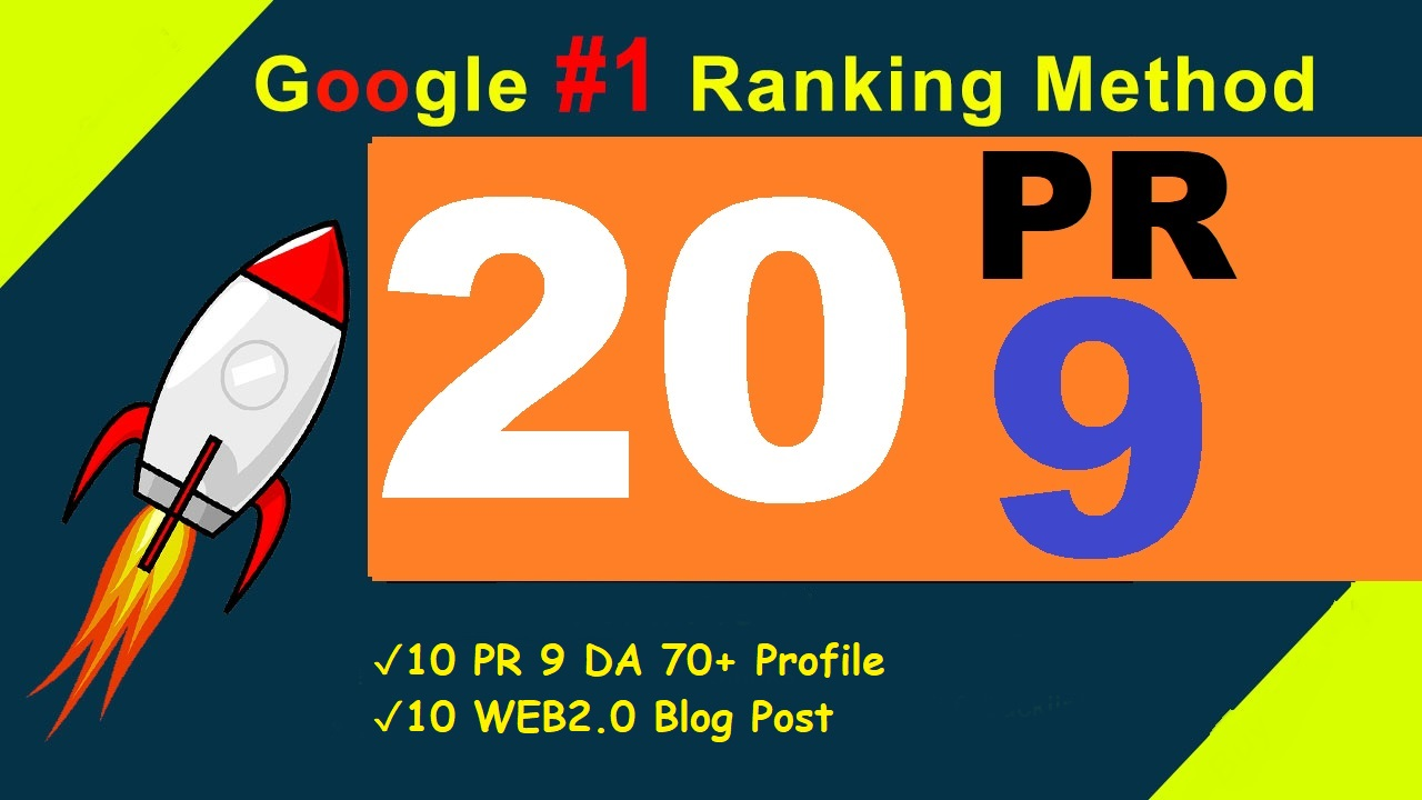 Limited Time Offer 20 PR9 Manual High Quality Backlinks to increase ranking