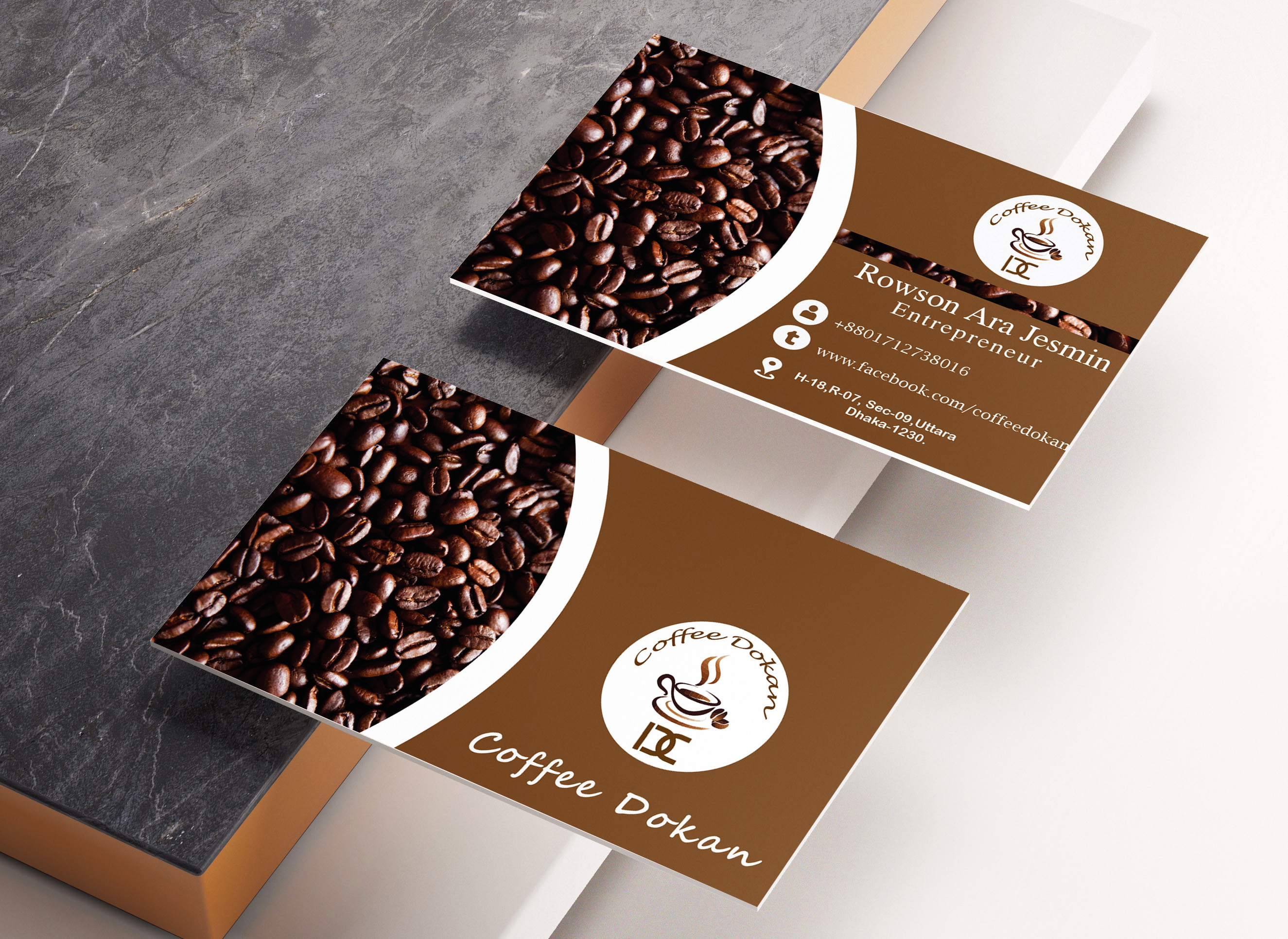 I will luxury business card design within 24 hours