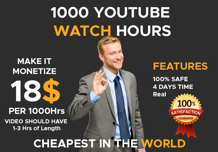 BOOST YOUR YOUTUBE WATCH TIME FOR CHEAP AND START EARNING
