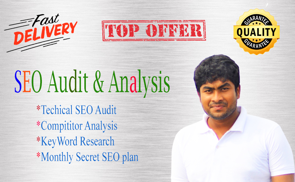 Expert Website SEO audit report,  competitor analysis,  and secret plan
