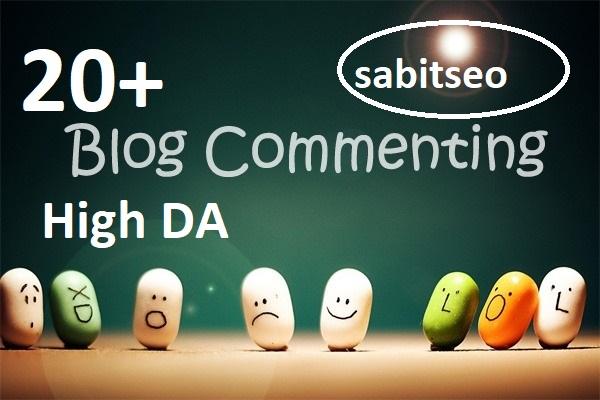 20+High DA Blog commenting backlinks best result 2021