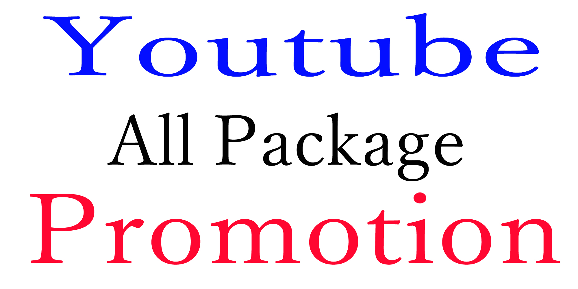 YouTube Video Package Promotion All In One and marketing