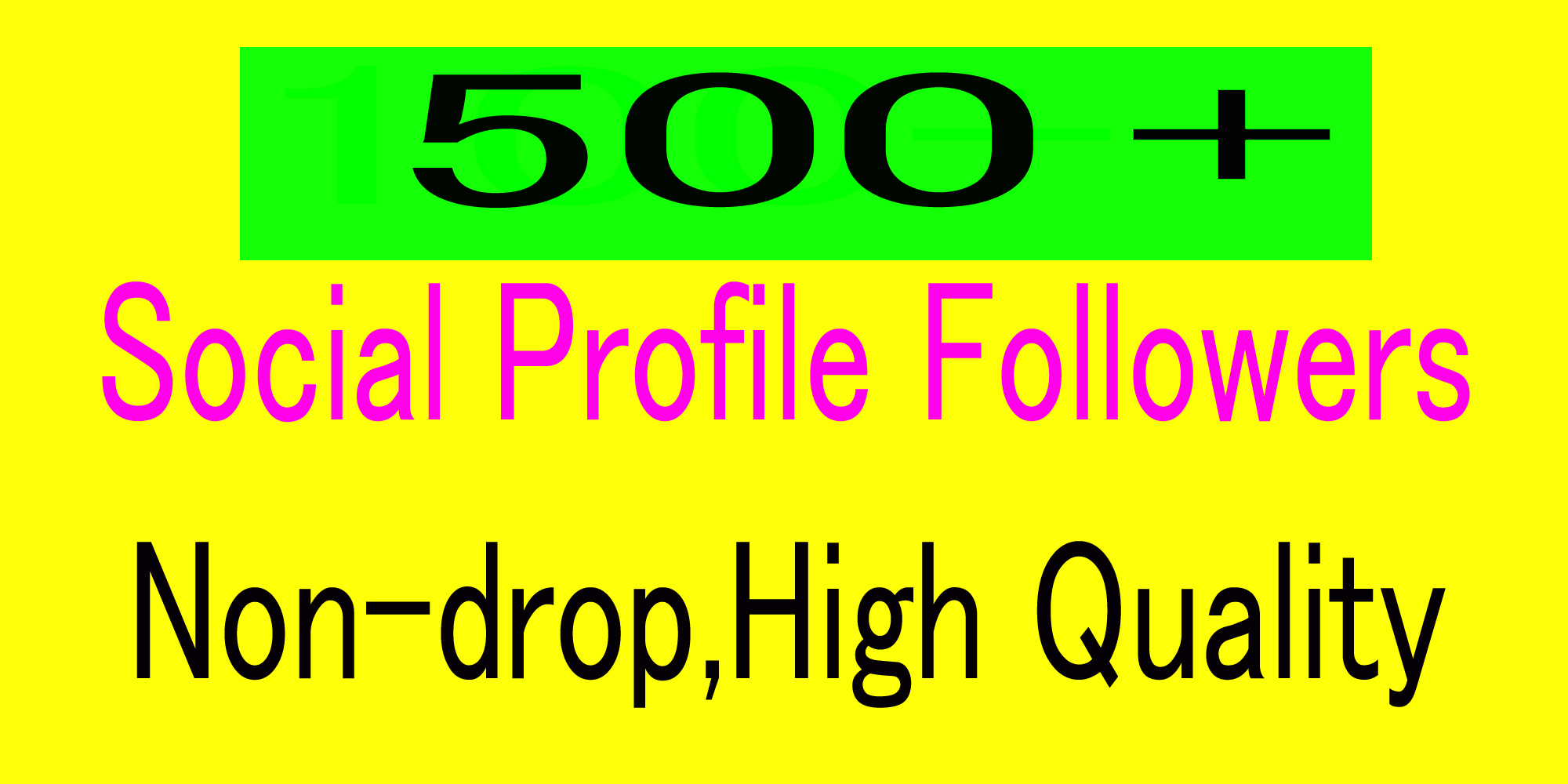 Organic High quality 500 Social media profile followers delivery in 12 hours