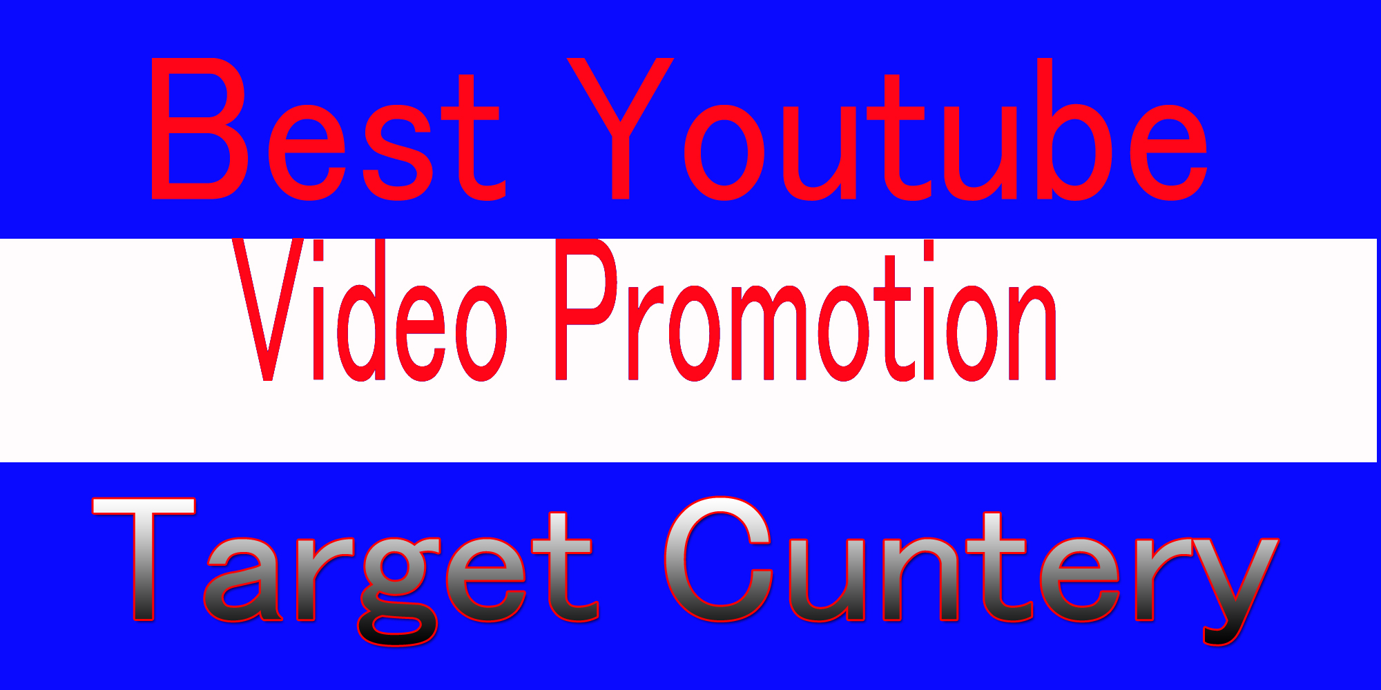 Best Youtube music video promotion from usa and target all country