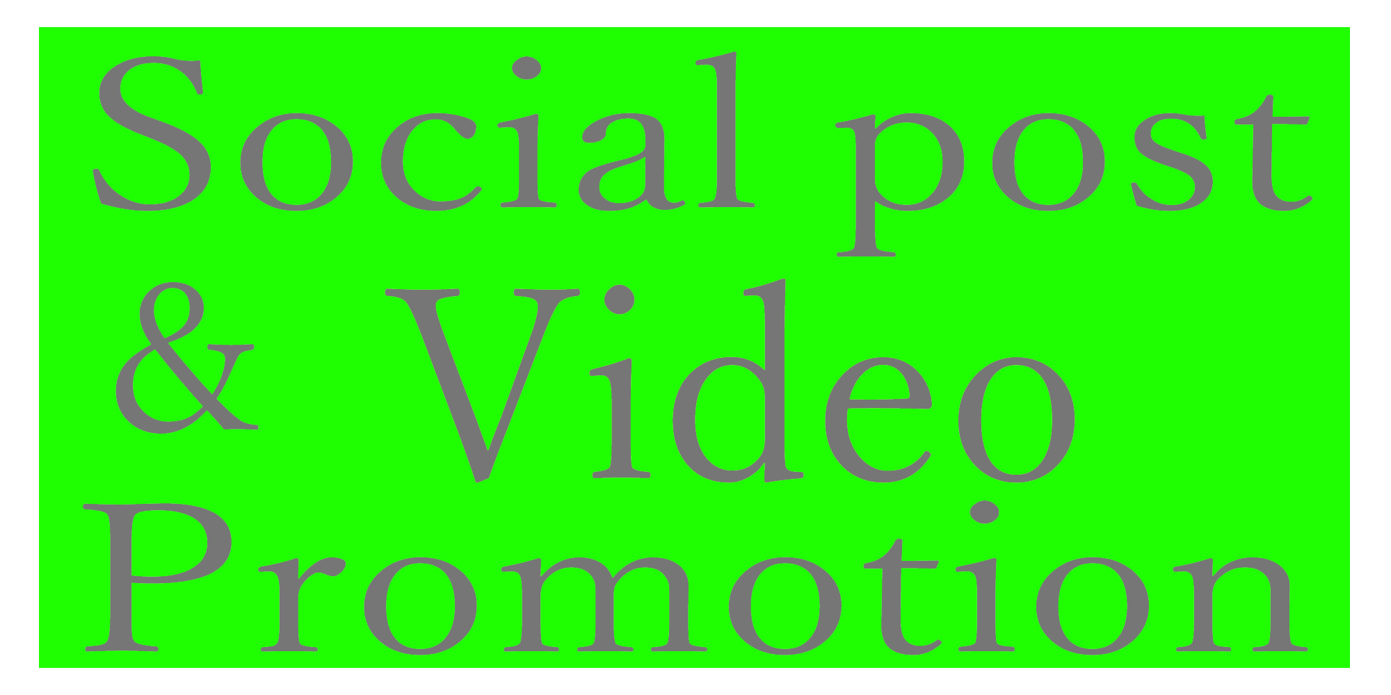 Get your social post and video promotion instant start non-drop
