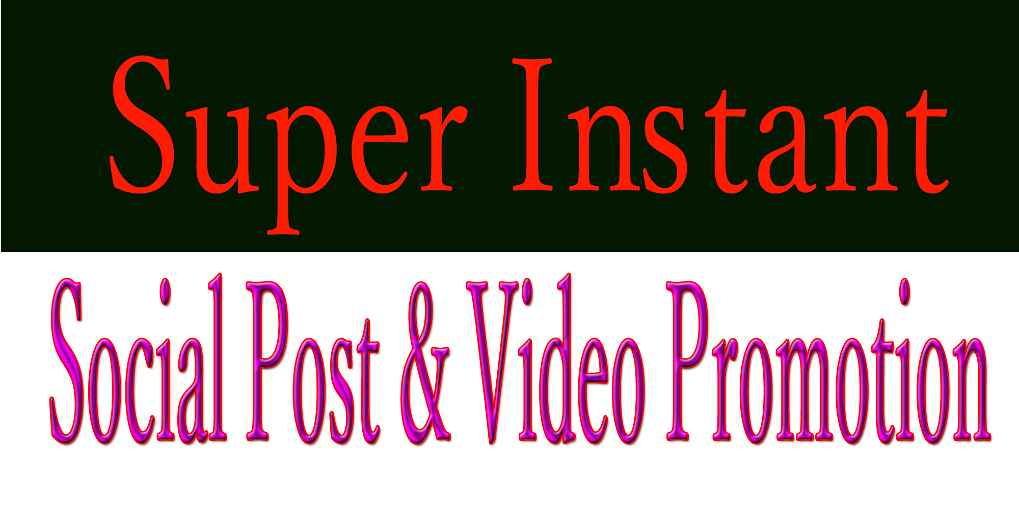 Get Instant social post or video promotion