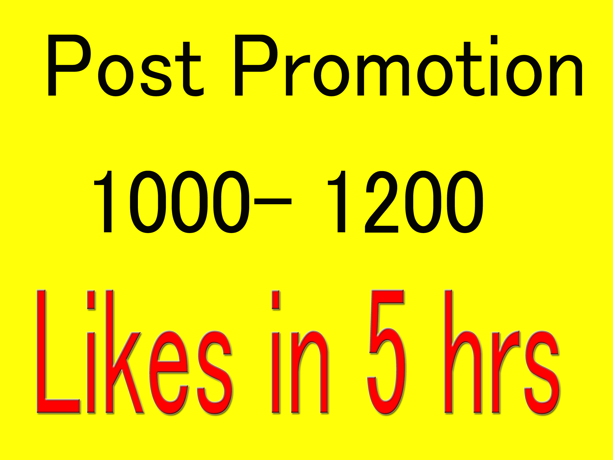 Instant 1000- 1200 Start Social Pictures Post Promotion and Marketing in 24 Hours
