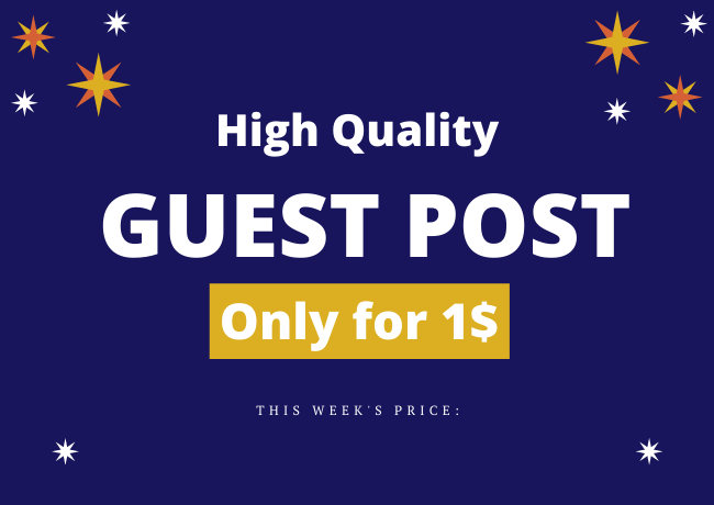 I will Provide You High Quality Guest Post Backlinks From DA90 sites