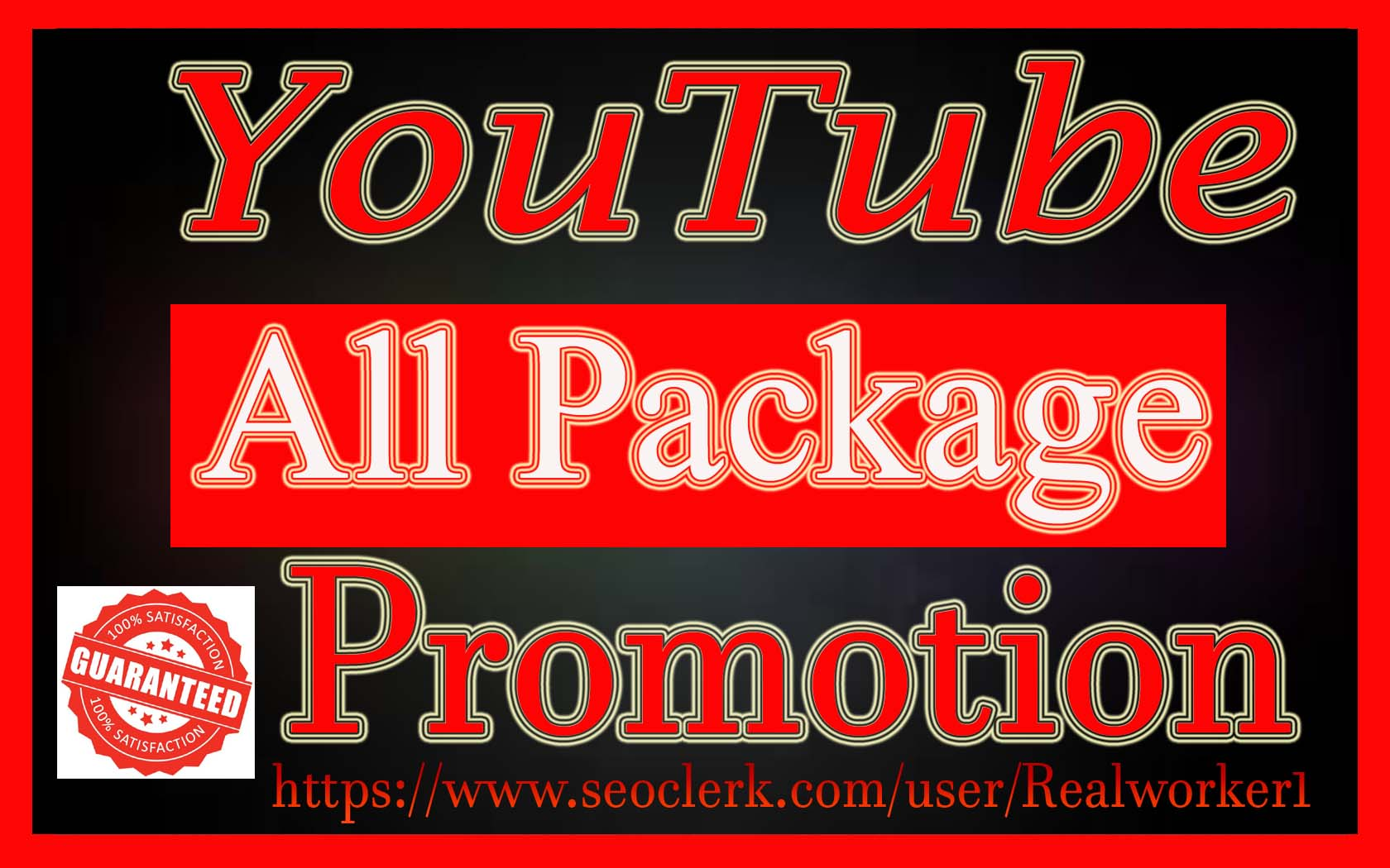 High Quality YouTube Video & Chanel Promotion Social Media Marketing Fast Delivery
