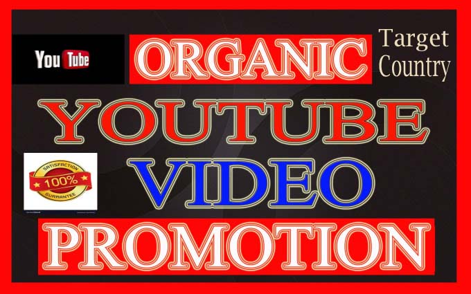 I will Do Target Country YouTube Video Promotion USA,  UK,  CANADA Via Genuine User
