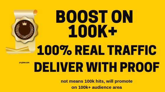 Reach 100,000 audience & Boost your website or affiliate products and drive targeted traffic