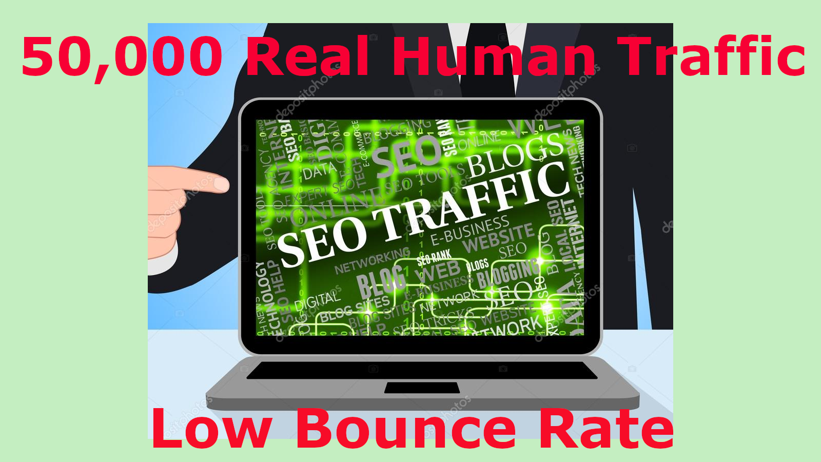 50,000 Real Human Traffic To Your Website