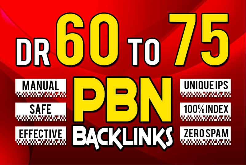 I will Provide 10 backlinks on DR 60 to 75 plus sites