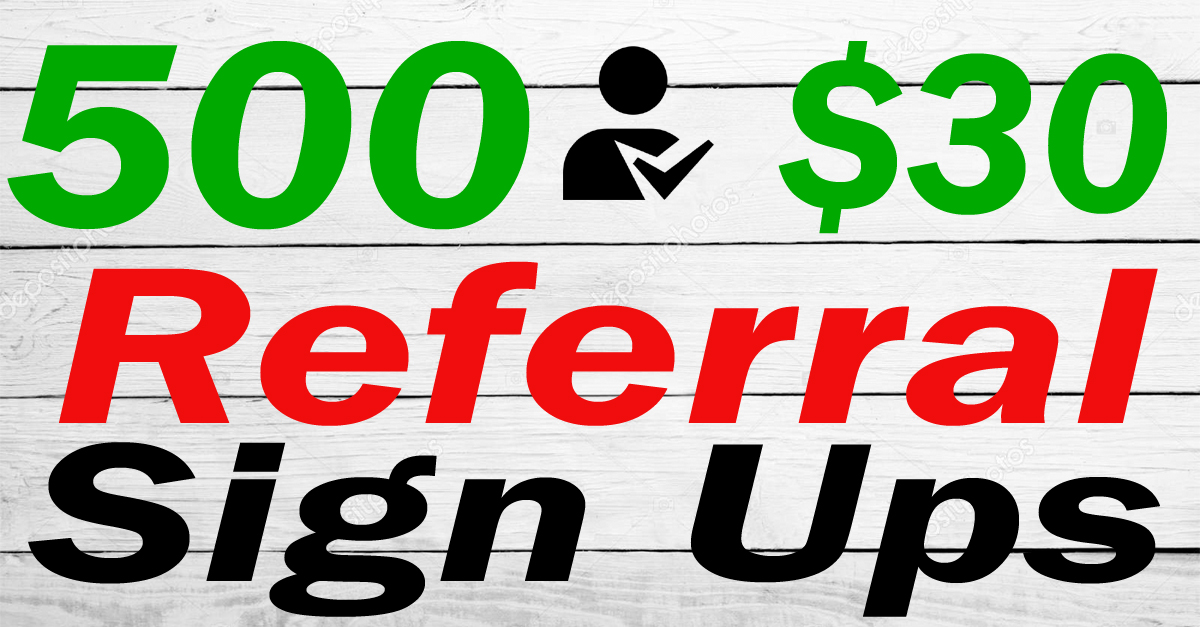 500 World wide afiiliate sign ups