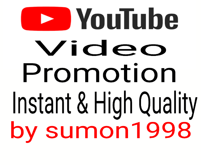YouTube Video Promotion and HQ Social Media Marketing non dropped