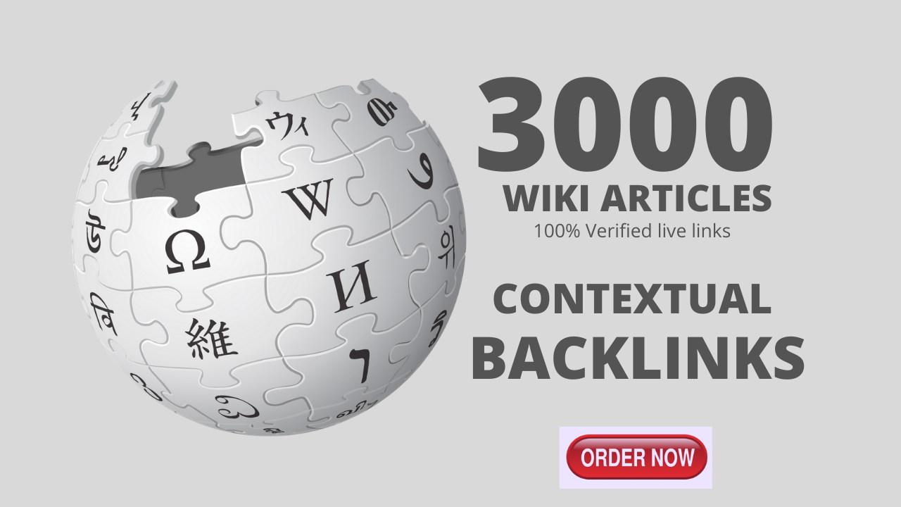 3,000 High quality wiki Backlinks from Wiki site