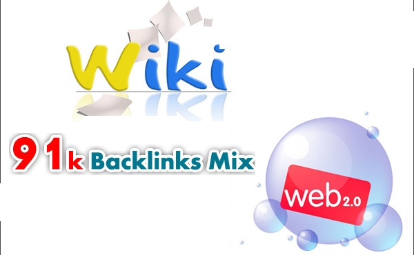 91000 backlinks mix of wiki,  social and web 2.0