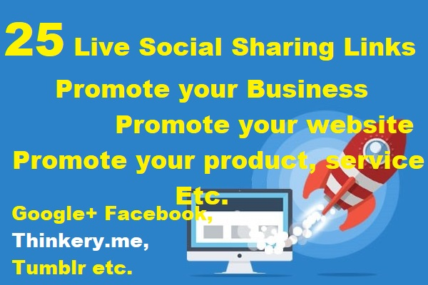 Instant 25 Live Social Bookmarking Links