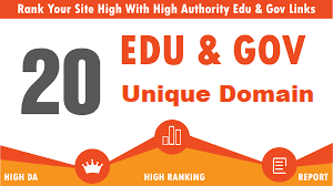 20 Unique Domain EDU and GOV Backlinks for increase your google rank