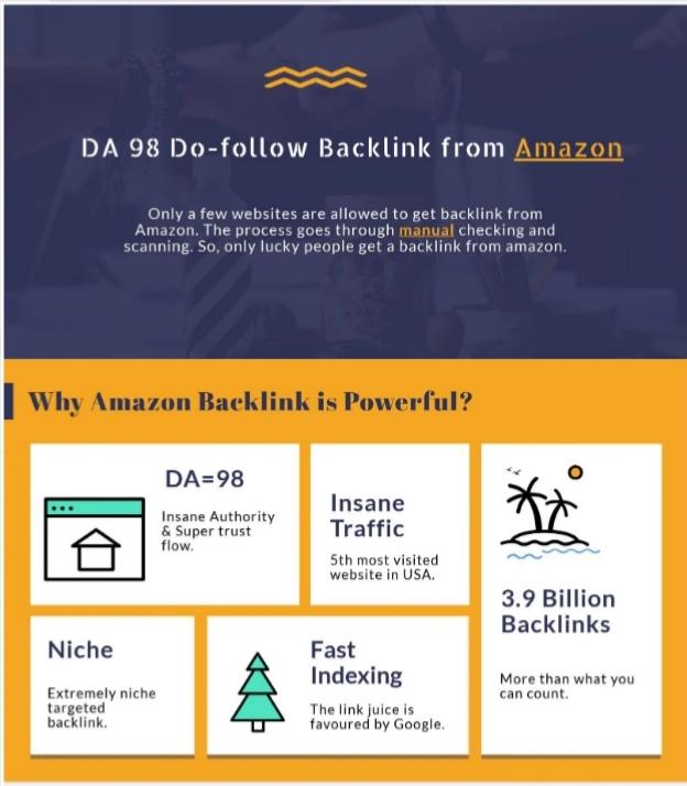 I Will Get Backlink From Amazon Da 98 Dofollow