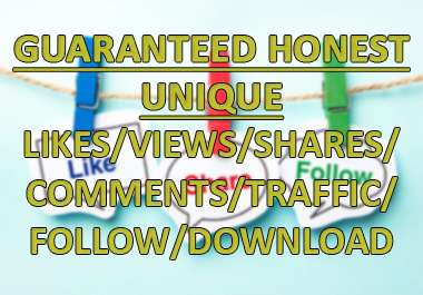 GUARANTEED HONEST UNIQUE VIEWS/LIKES/SHARES/TRAFFIC